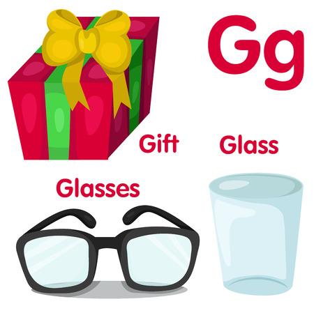 g: Illustrator of G alphabet