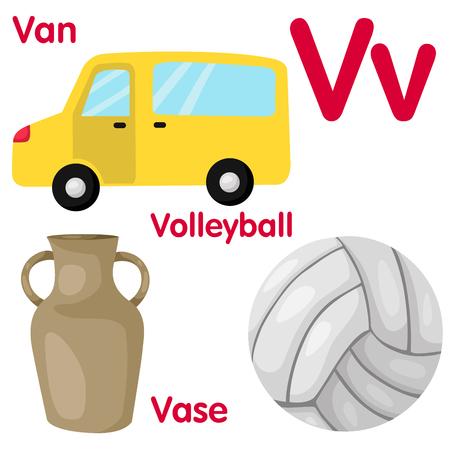 Illustrator of V alphabet Vector