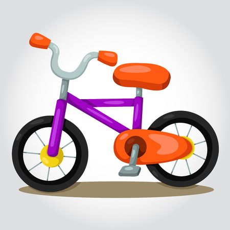 treadle: Illustrator of Bicycles for kids Illustration