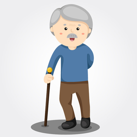 Illustrator of grandfather smile