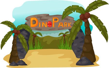 carboniferous: illustration of Dino Park Daytime Illustration