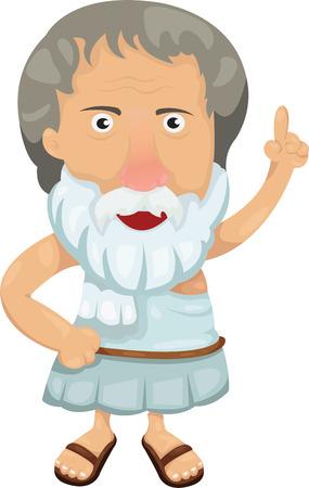 Illustrator of Aristotlel  イラスト・ベクター素材