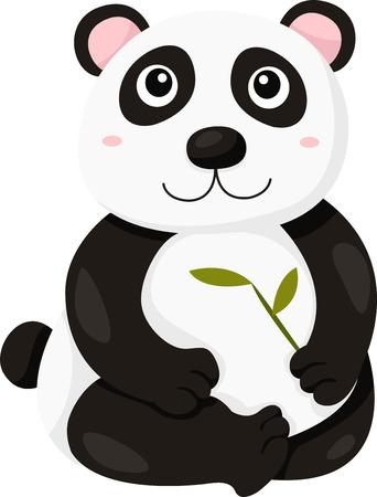 one panda: Illustrator of panda Illustration