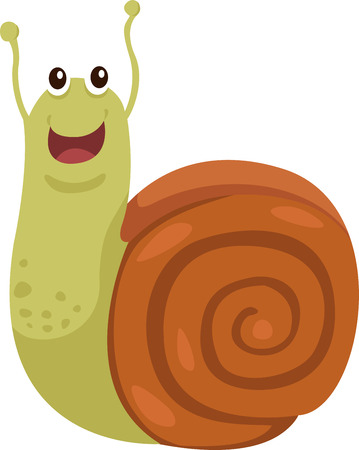 Illustrator of snail Vector