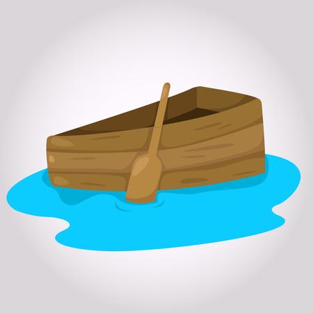 booty pirate: Illustrator of ship Illustration