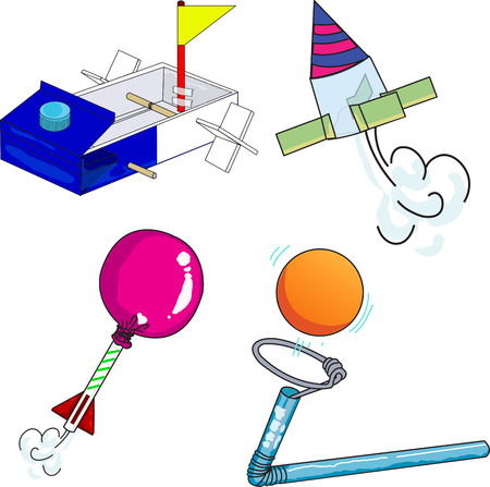 Illustrator of toy with science Vector