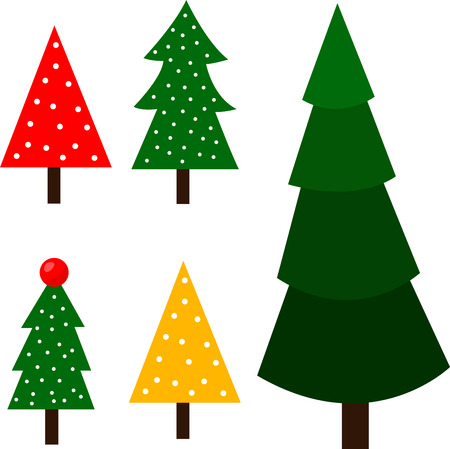 Illustrator of christmas tree Vector