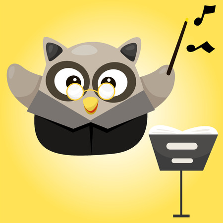 Illustration of owl and music Vector