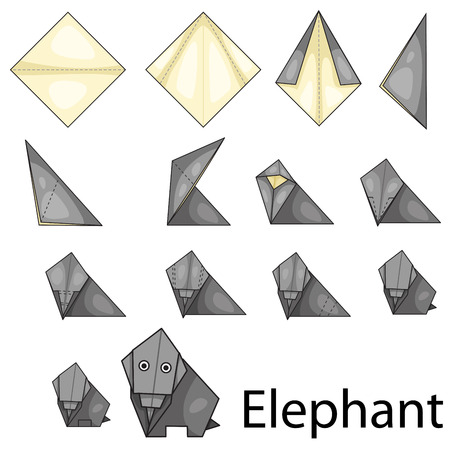 Illustrator Of Origami With Fox Royalty Free Cliparts Vectors And