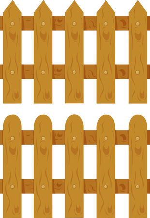 Illustrator of fence Vector