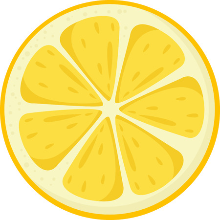 lemon slices: Illustrator of lemon