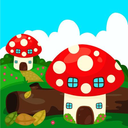 Illustrator of Mushroom Vector