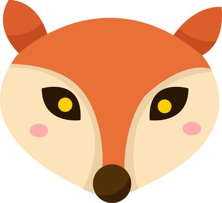 fox face: Ilustrador de la cara de zorro 2 Vectores