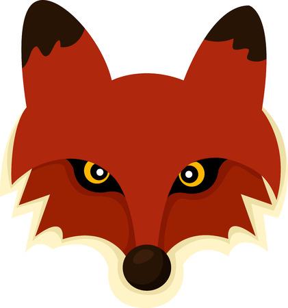 fox face: Ilustrador de cara Fox