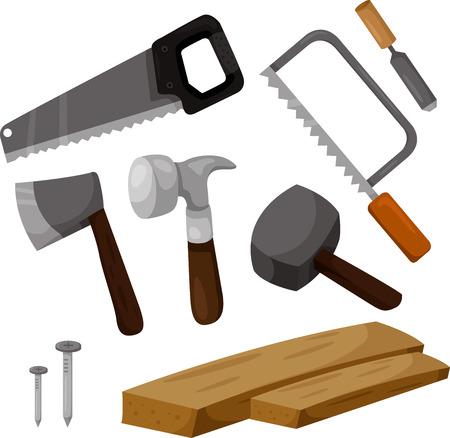 carpintero: Ilustrador de herramientas de carpintero
