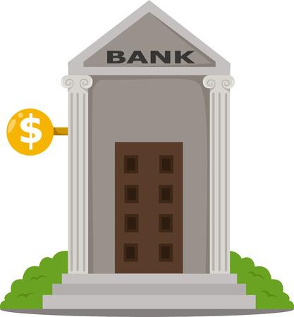edificio banco: Ilustrador de edificio del banco Vectores