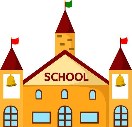 the school building: Ilustrador de edificio de la escuela