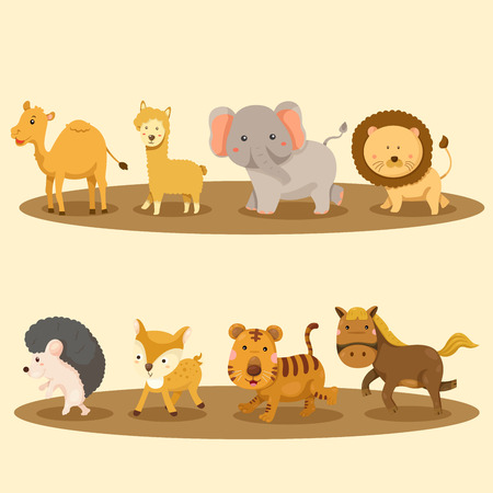 animals in the wild: Illustrator of Zoo animals
