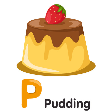 soft serve: Illustrator of P font with pudding
