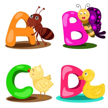 Illustrator alphabet A,B,C