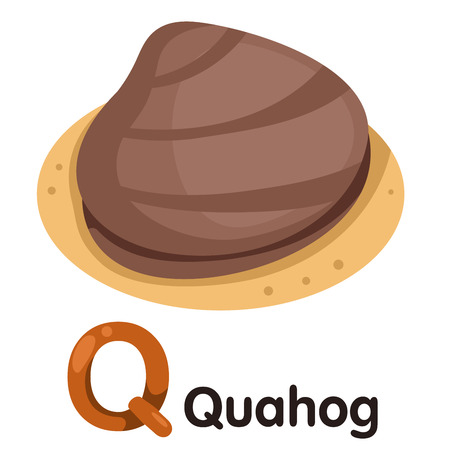 Illustrator of Q font with Quahog