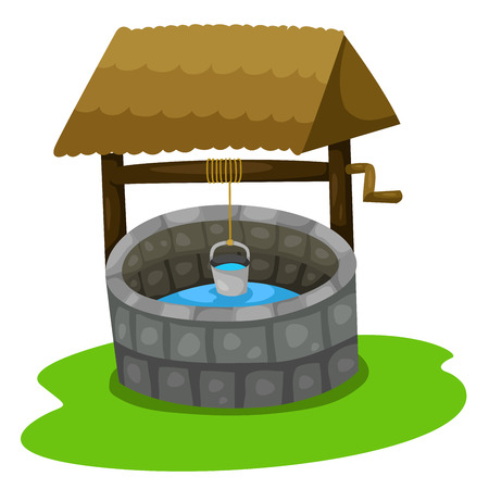 water well: Illustrator of well Illustration