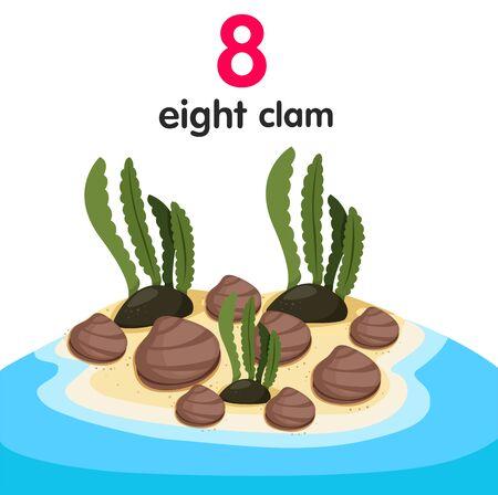 eight: Illustrator of eight clams