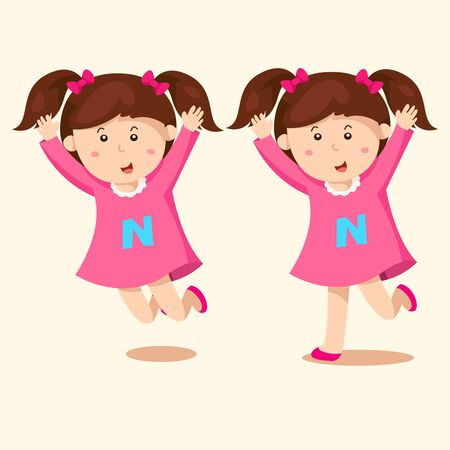 woman arms outstretched: girl jumping funny Illustration