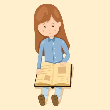 leggere libro: girl read book