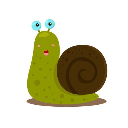 dna smile: snail cute Illustration