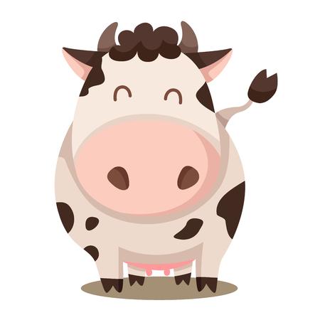 Illustrator of cow cute