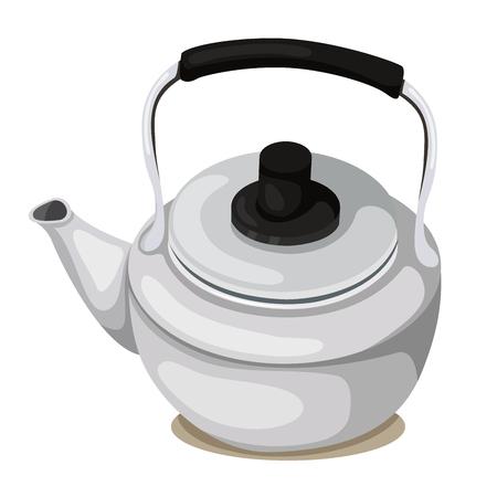 creamer: Illustrator of teapot