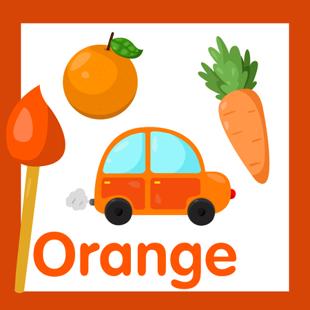 cartoon carrot: Illustrator of Orange color