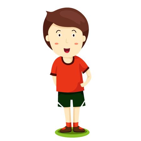 keen: Illustrator of sport boy Illustration