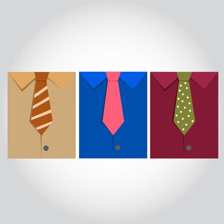 dress shirt: Illustrator of dress shirt with neckties.
