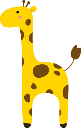 cute giraffe: Illustrator of Giraffe