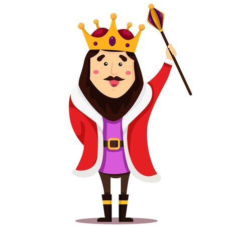 king  crown: Illustrator of king cartoon