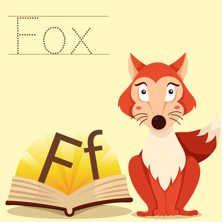 vocabulary: Illustrator of f for fox vocabulary
