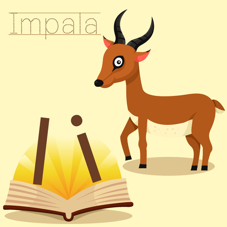 Illustrator of i for impala vocabulary