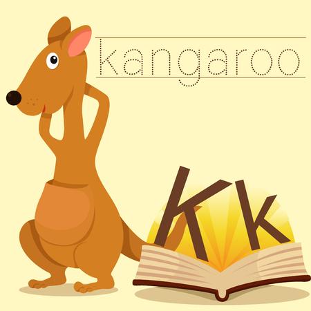 vocabulary: Illustrator of k for kangaroo vocabulary