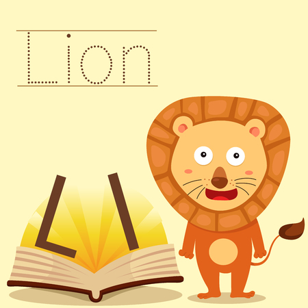 vocabulary: Illustrator of l for lion vocabulary
