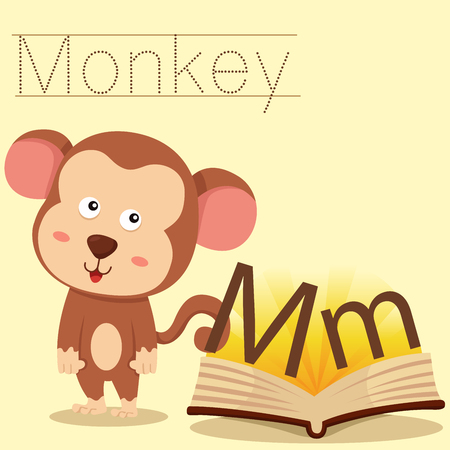 vocabulary: Illustrator of m for monkey vocabulary