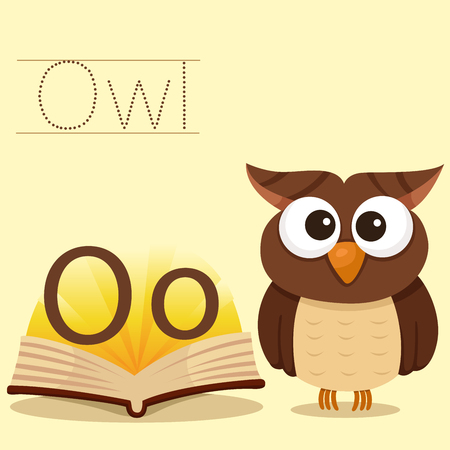 vocabulary: Illustrator of o for owl vocabulary Illustration