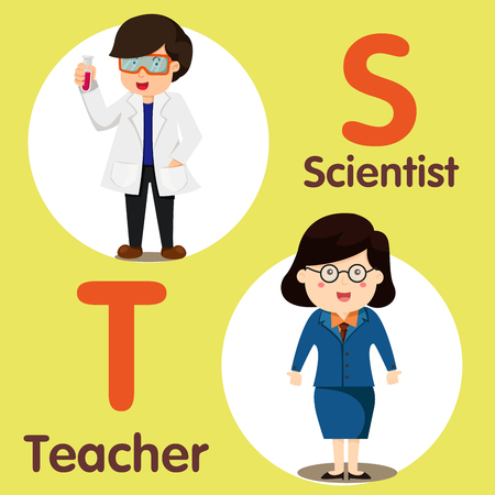 spelling book: Illustrator of professional character Scientist and teacher