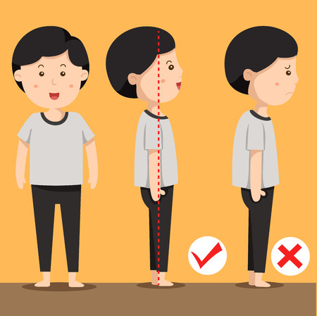 nice guy: Illustrator of man standing positions Illustration