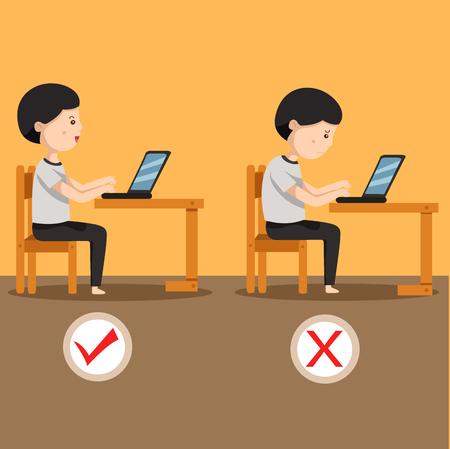 Illustrator of man sitting position two
