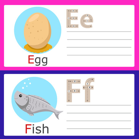spelling book: E-F exercise