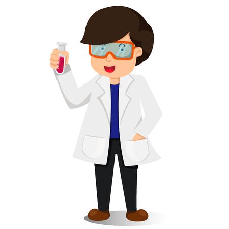 scientist man: Illustrator of scientist man two Illustration