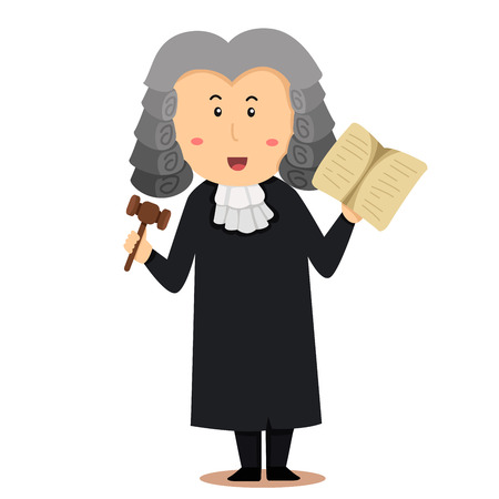 Illustrator van rechter