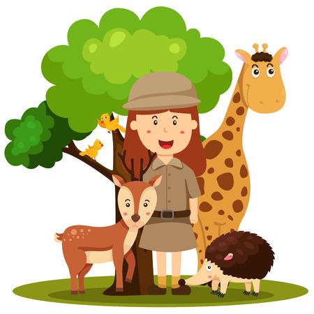keeper: Illustrator of zoo keeper women